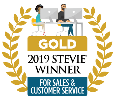 2019 Stevie Gold for Sales & Customer Service