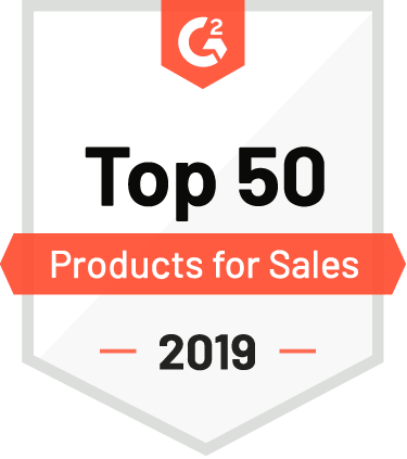 G2 Crowd Top 50 Products for Sales 2019